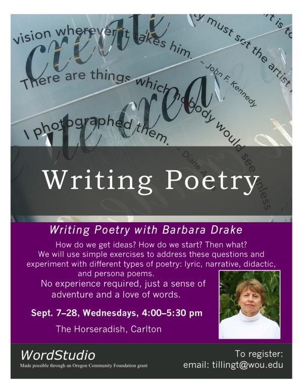 Poetry flyer